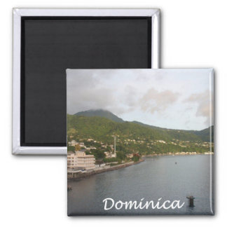 Dominica View Square Magnet