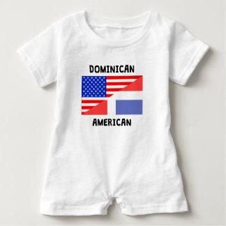 Dominican American Baby Romper