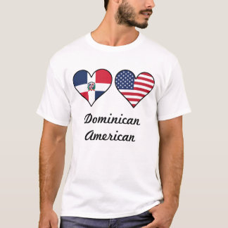 Dominican American Flag Hearts T-Shirt