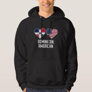 Dominican American Heart Flags Hoodie