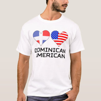 Dominican American Hearts T-Shirt