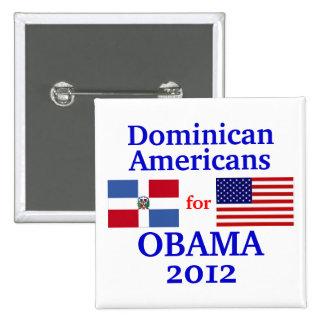Dominican Americans for Obama 2 Inch Square Button