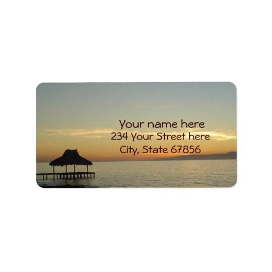Dominican Beach Sunset 1 Address Labels