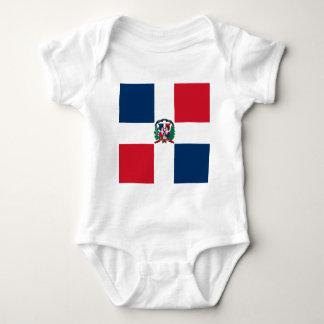 Dominican flag all over design baby bodysuit
