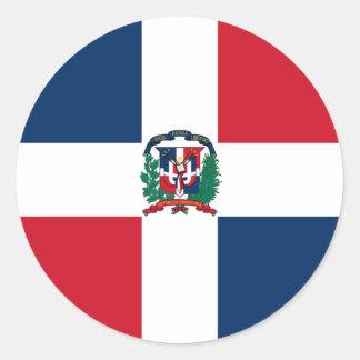 Dominican flag all over design classic round sticker