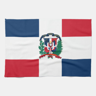 Dominican flag all over design kitchen towel