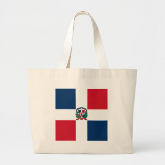 Dominican flag all over design large tote bag