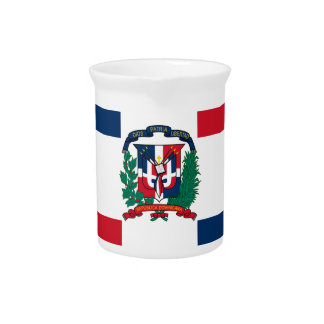 Dominican flag all over design pitcher