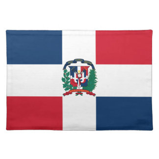 Dominican flag all over design placemat