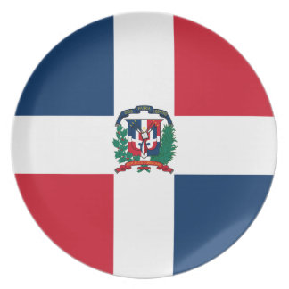 Dominican flag all over design plate