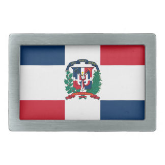Dominican flag all over design rectangular belt buckle