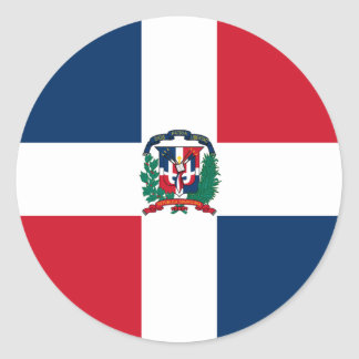Dominican flag all over design round sticker
