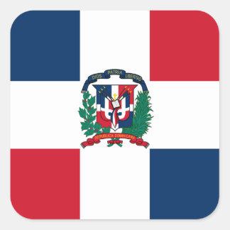 Dominican flag all over design square sticker