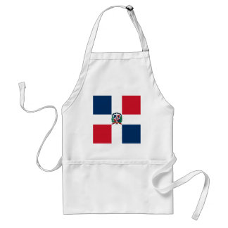 Dominican flag all over design standard apron