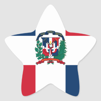 Dominican flag all over design star sticker