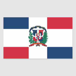 Dominican flag all over design sticker