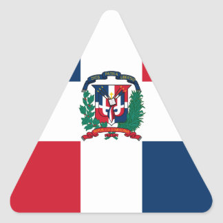 Dominican flag all over design triangle sticker