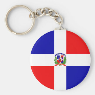 Dominican Flag Basic Round Button Keychain
