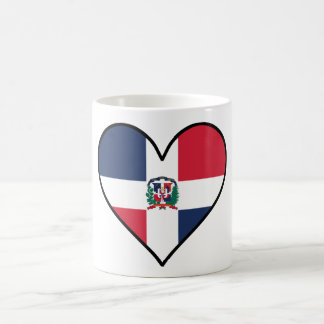 Dominican Flag Heart Coffee Mug