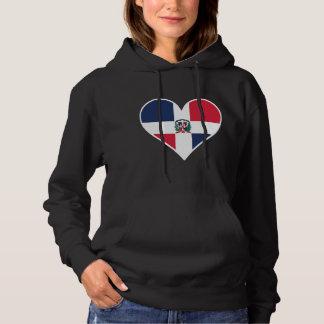Dominican Flag Heart Hoodie