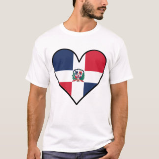Dominican Flag Heart T-Shirt
