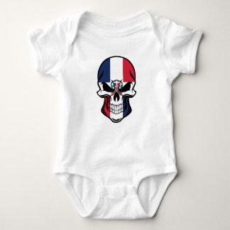 Dominican Flag Skull Baby Bodysuit