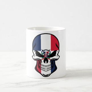 Dominican Flag Skull Coffee Mug