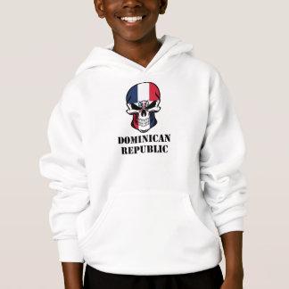 Dominican Flag Skull Dominican Republic