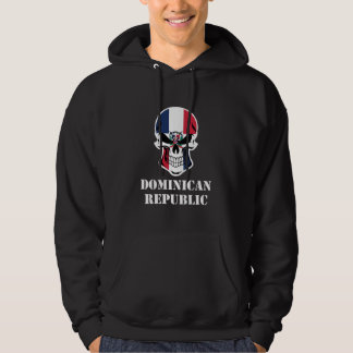 Dominican Flag Skull Dominican Republic Hoodie