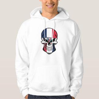Dominican Flag Skull Hoodie