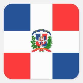 Dominican Flag Square Sticker
