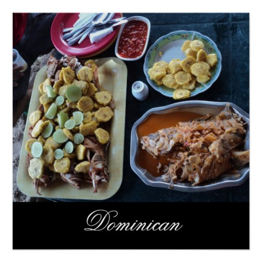 Dominican Food on the Beach Poster