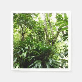 Dominican Rain Forest I Tropical Green Nature Paper Napkins