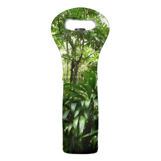 Dominican Rain Forest I Tropical Green Nature Wine Bag