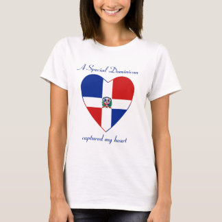 Dominican Rep. Flag Sweetheart T-Shirt