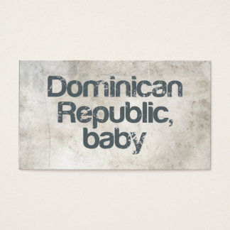 Dominican Republic Baby Business Card