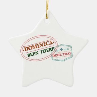 Dominican Republic Been There Done That Ceramic Star Ornament