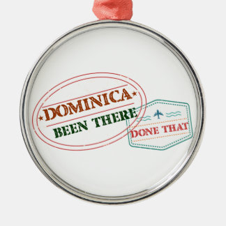Dominican Republic Been There Done That Silver-Colored Round Ornament