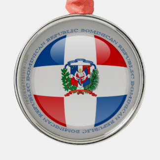 Dominican Republic Bubble Flag Metal Ornament