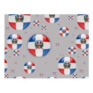 Dominican Republic Bubble Flag Postcard
