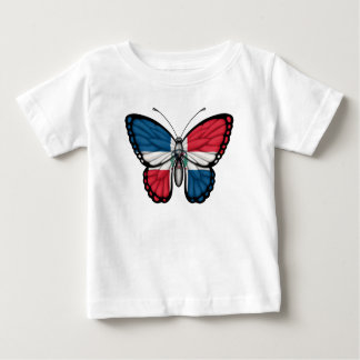Dominican Republic Butterfly Flag Baby T-Shirt