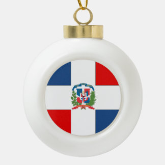 Dominican Republic Ceramic Ball Christmas Ornament