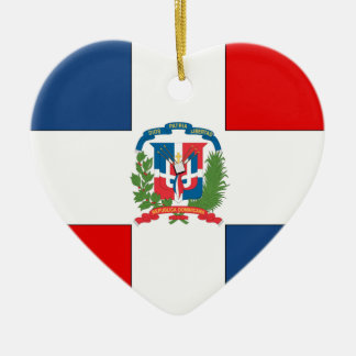 Dominican Republic Ceramic Heart Ornament
