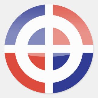 dominican_republic classic round sticker