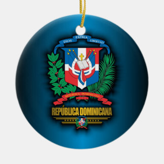 Dominican Republic COA Ceramic Ornament