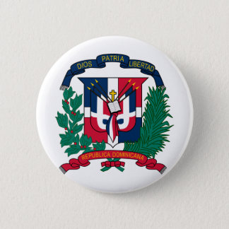 Dominican Republic coat of arms 2 Inch Round Button