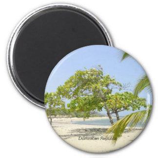 Dominican Republic: Costambar Beach 2 Inch Round Magnet