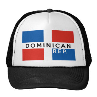 dominican republic country flag symbol name text trucker hat