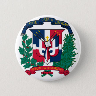dominican republic emblem 2 inch round button