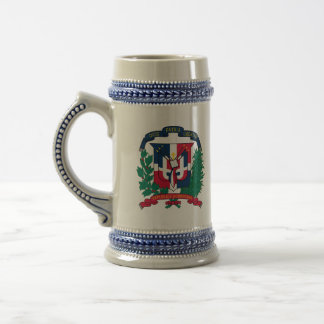dominican republic emblem beer stein